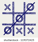 Tic Tac Toe. Doodle Style