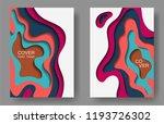 vector paper cut layouts design ... | Shutterstock .eps vector #1193726302