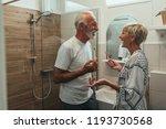 cute mature couple in bathroom | Shutterstock . vector #1193730568