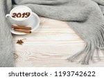 2019 macchiato or latte...   Shutterstock . vector #1193742622
