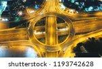 aerial drone high speed night... | Shutterstock . vector #1193742628