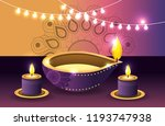 bulb lights hanging with vassel ... | Shutterstock .eps vector #1193747938
