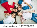 top view photo of young happy... | Shutterstock . vector #1193750872