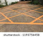 yellow lines with car parking...   Shutterstock . vector #1193756458