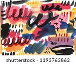 abstract watercolor brush... | Shutterstock . vector #1193763862