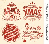 set of merry christmas and... | Shutterstock .eps vector #1193767432