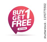 buy 1 get 1 free sale tag.... | Shutterstock .eps vector #1193775502