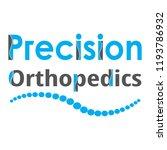 """precision orthopedics"" medical ... | Shutterstock .eps vector #1193786932"