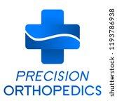 """precision orthopedics"" medical ... | Shutterstock .eps vector #1193786938"