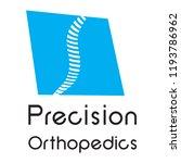 """precision orthopedics"" medical ... | Shutterstock .eps vector #1193786962"