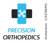 """precision orthopedics"" medical ... | Shutterstock .eps vector #1193786992"