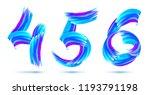 blue grunge brush strokes 4 5 6 ... | Shutterstock . vector #1193791198