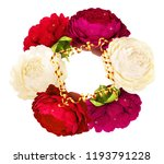 realistic bright red and purple ... | Shutterstock . vector #1193791228