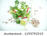 top view image of vegetable  ... | Shutterstock . vector #1193792515