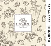 background with almond and... | Shutterstock .eps vector #1193798368