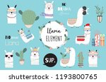 blue hand drawn cute card with... | Shutterstock .eps vector #1193800765