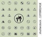 oil platform sign icon. warning ...   Shutterstock .eps vector #1193802418