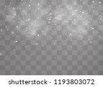 snow and wind on a transparent... | Shutterstock .eps vector #1193803072