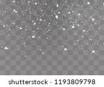 snow on a transparent... | Shutterstock .eps vector #1193809798
