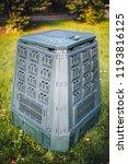 compost bin on green grass and... | Shutterstock . vector #1193816125