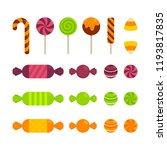 halloween   food   candy   flat ... | Shutterstock .eps vector #1193817835
