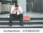 unemployed tired or stressed...   Shutterstock . vector #1193820535