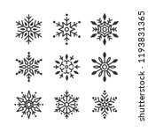 set of snowflakes christmas... | Shutterstock .eps vector #1193831365