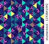 tribal seamless pattern vector... | Shutterstock .eps vector #1193841592