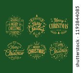 set of christmas greeting badge ...   Shutterstock .eps vector #1193844085
