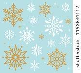 snowflake christmas design... | Shutterstock .eps vector #1193844112