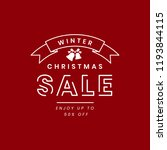 christmas sale promotion badge... | Shutterstock .eps vector #1193844115