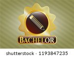 gold emblem or badge with... | Shutterstock .eps vector #1193847235