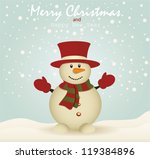 merry christmas card with... | Shutterstock .eps vector #119384896