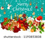 christmas winter holiday gift... | Shutterstock .eps vector #1193853838