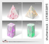 vectors of cone  tetrahedron ... | Shutterstock .eps vector #1193853895