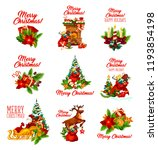 merry christmas happy holidays... | Shutterstock .eps vector #1193854198