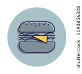 cheeseburger icon in badge...