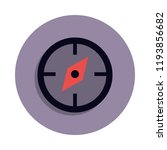 compass icon in badge style....