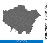 high quality map of london is a ... | Shutterstock .eps vector #1193858968