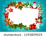 christmas winter holiday... | Shutterstock .eps vector #1193859025