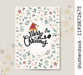christmas greeting card mockup... | Shutterstock .eps vector #1193872675