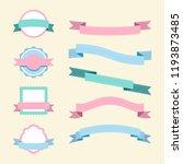 set of pastel badge design... | Shutterstock .eps vector #1193873485