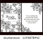 vintage delicate greeting... | Shutterstock . vector #1193878942