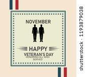 happy veterans day | Shutterstock .eps vector #1193879038