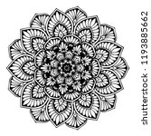 mandalas for coloring  book.... | Shutterstock .eps vector #1193885662