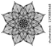 mandalas for coloring  book.... | Shutterstock .eps vector #1193885668