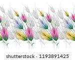 seamless textile floral border   Shutterstock .eps vector #1193891425