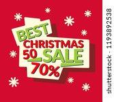 vector banner best christmas... | Shutterstock .eps vector #1193892538