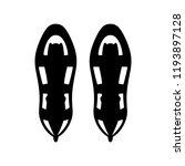 snowshoes  over snow walking... | Shutterstock .eps vector #1193897128
