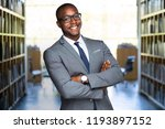 cheerful smiling african... | Shutterstock . vector #1193897152